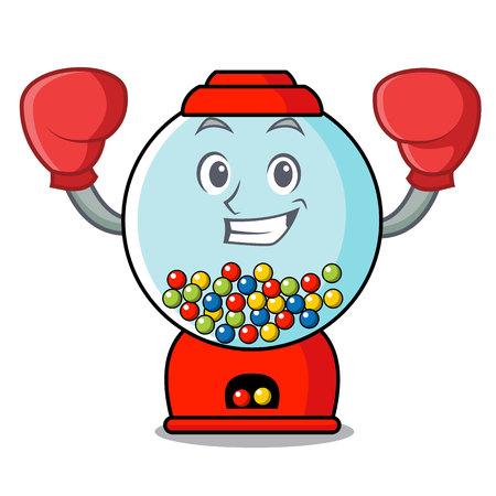 Boxing gumball machine character cartoon