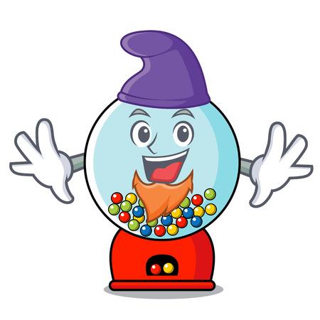 Elf gumball machine character cartoon Banque d'images - 103553809