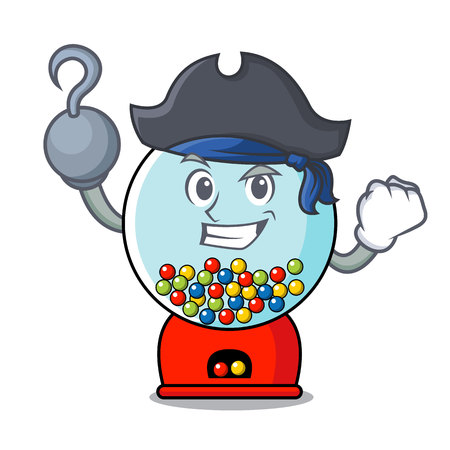 Pirate gumball machine character cartoon Banque d'images - 103553811