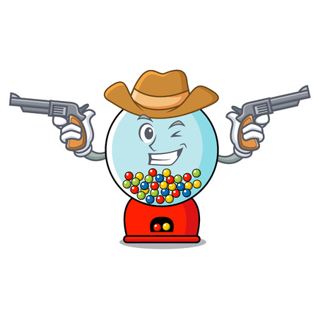 Cowboy gumball machine character cartoon Banque d'images - 103553813