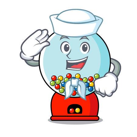Sailor gumball machine character cartoon Banque d'images - 103553816
