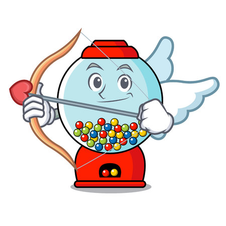 Cupid gumball machine character cartoon
