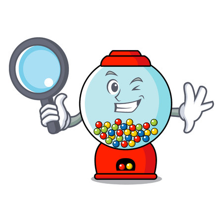 Detective gumball machine character cartoon Banque d'images - 103553822