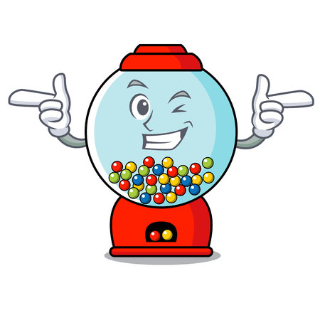 Wink gumball machine character cartoon Banque d'images - 103553824