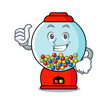 Thumbs up gumball machine character cartoon Banque d'images - 103553827