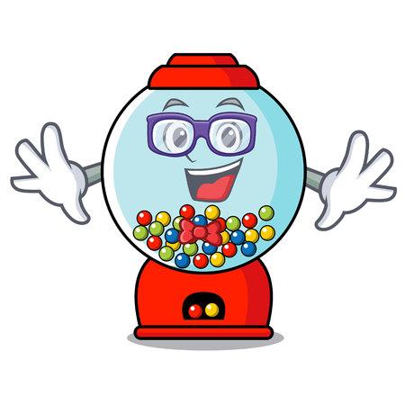 Geek gumball machine character cartoon vector illustration Banque d'images - 103553758