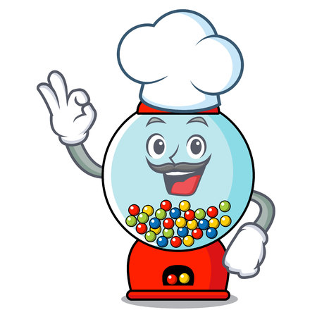 Chef gumball machine character cartoon vector illustration Banque d'images - 103553775