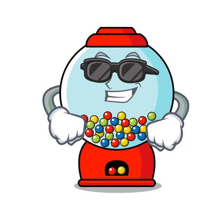 Super cool gumball machine character cartoon vector illustration Illustration