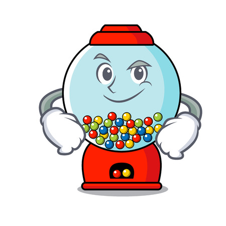 Smirking gumball machine character cartoon vector illustration Banque d'images - 103553781