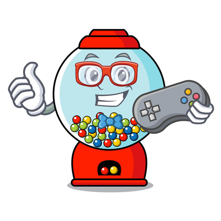 Gamer gumball machine mascot cartoon vector illustration Banque d'images - 103553718