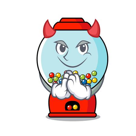 Devil gumball machine mascot cartoon vector illustration Banque d'images - 103553725