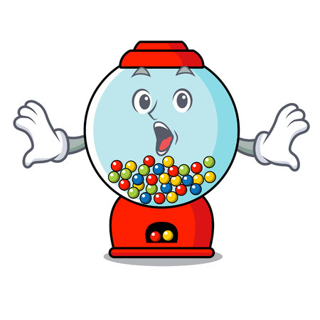 Surprised gumball machine mascot cartoon vector illustration Banque d'images - 103553739