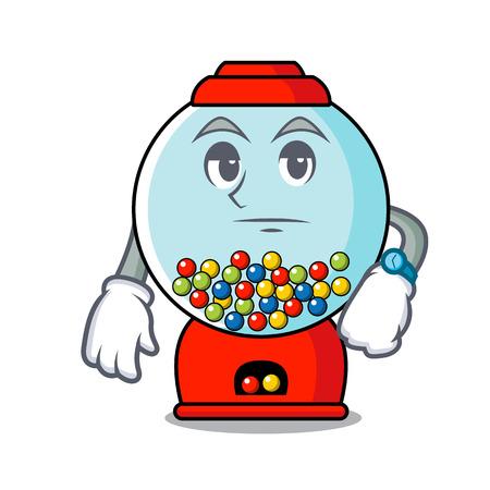 Waiting gumball machine mascot cartoon vector illustration Banque d'images - 103553647