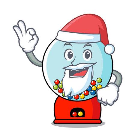Santa gumball machine mascot cartoon vector illustration Banque d'images - 103553656