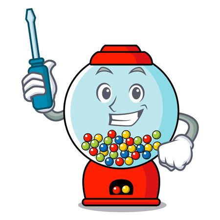 Automotive gumball machine mascot cartoon vector illustration Banque d'images - 103553684