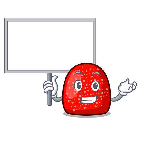 Bring board gumdrop character cartoon style vector illustration