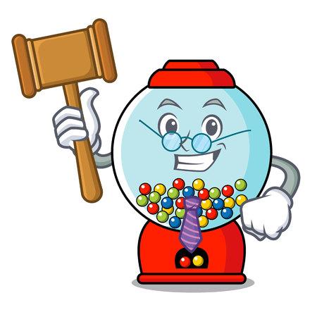 Judge gumball machine mascot cartoon vector illustration Banque d'images - 103553491