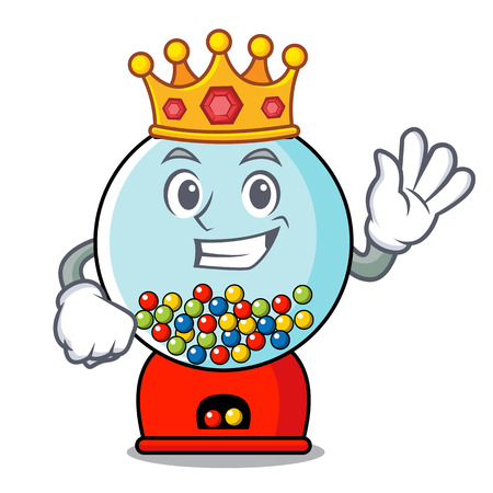 King gumball machine mascot cartoon vector illustration Banque d'images - 103553036