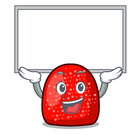 Up board gumdrop character cartoon style vector illustration Illustration