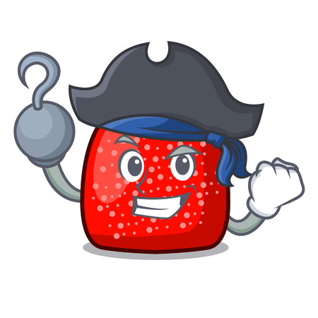 Pirate gumdrop character cartoon style vector illustration Illustration