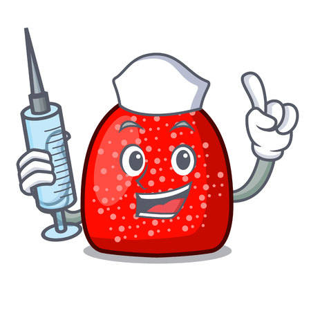 Nurse gumdrop character cartoon style vector illustration