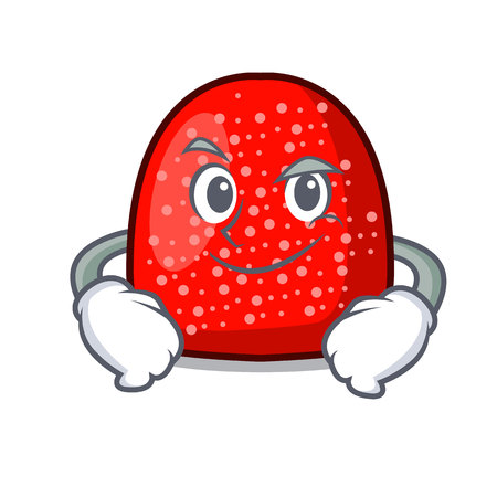 Smirking gumdrop character cartoon style vector illustration
