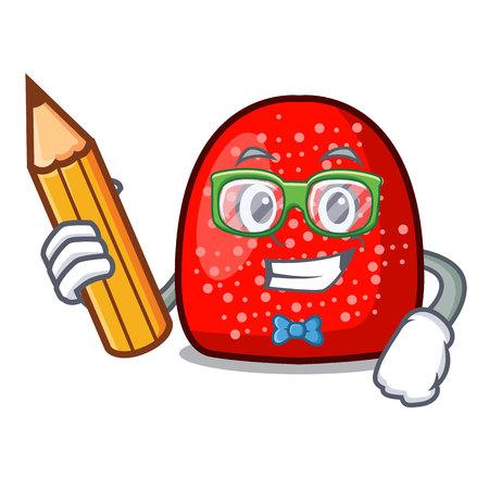Student gumdrop character cartoon style vector illustration