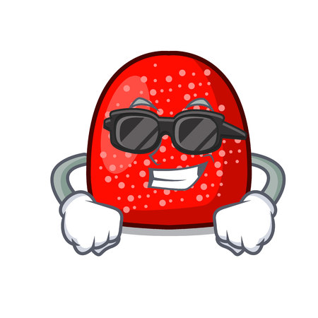 Super cool gumdrop character cartoon style vector illustration Illustration