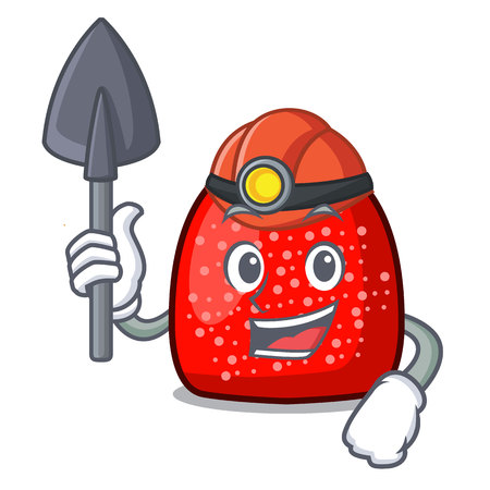 Miner gumdrop mascot cartoon style vector illustration Illustration