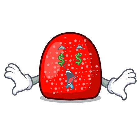 Money eye gumdrop mascot cartoon style vector illustration
