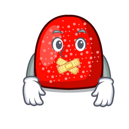 Silent gumdrop mascot cartoon style vector illustration