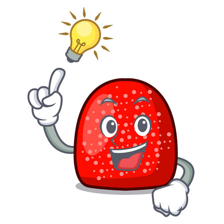 Have an idea gumdrop mascot cartoon style vector illustration Illustration