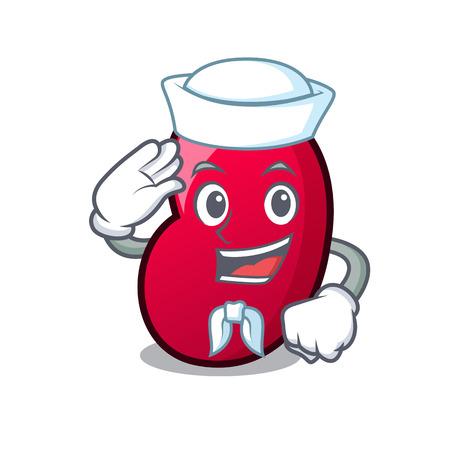 Sailor jelly bean character cartoon vector illustration