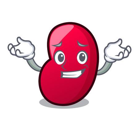 Grinning jelly bean character cartoon vector illustration Illustration