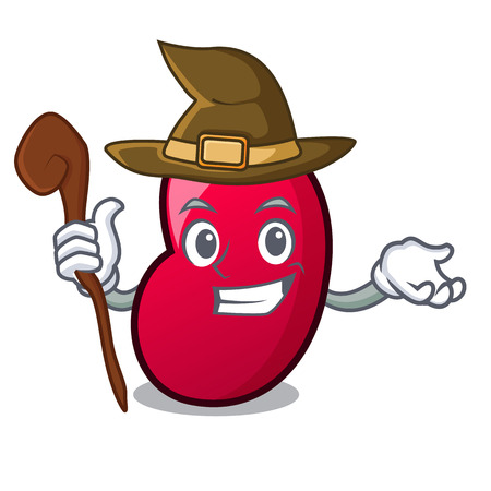 Witch jelly bean mascot cartoon vector illustration