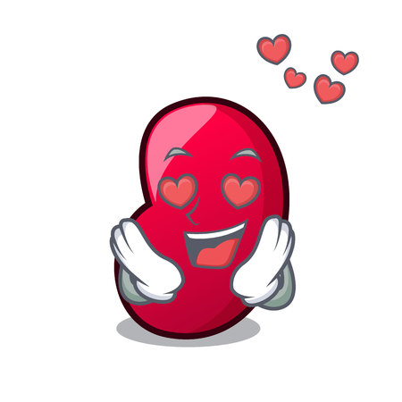 In love jelly bean mascot cartoon vector illustration