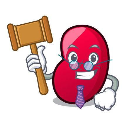Judge jelly bean mascot cartoon vector illustration