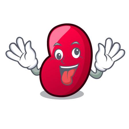Crazy jelly bean mascot cartoon vector illustration Illustration
