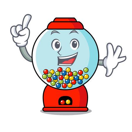 Finger gumball machine mascot cartoon vector illustration Banque d'images - 103552233
