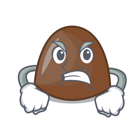 Angry chocolate candies mascot cartoon vector ilustration