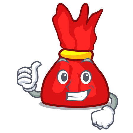 Thumbs up wrapper candy character cartoon vector illustration  イラスト・ベクター素材