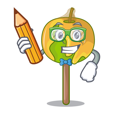 Student candy apple character cartoon