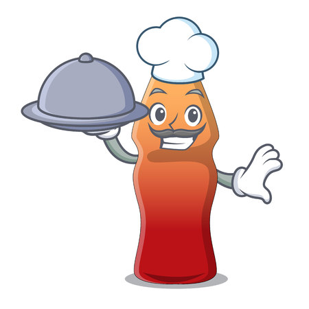 Chef with food cola bottle jelly candy mascot cartoon vector illustration  イラスト・ベクター素材