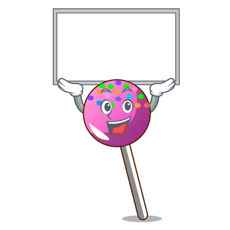 Up board lollipop with sprinkles character cartoon vector illustration Illustration