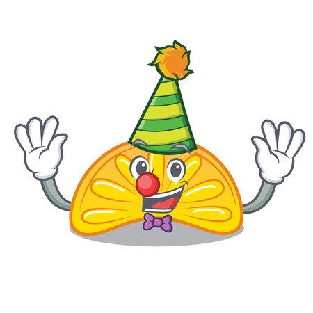 Clown orange jelly candy mascot cartoon vector illustration Ilustração