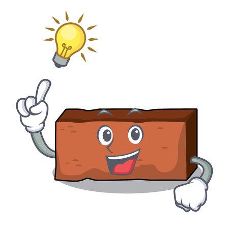 Have an idea brick mascot cartoon style vector illustration Illustration
