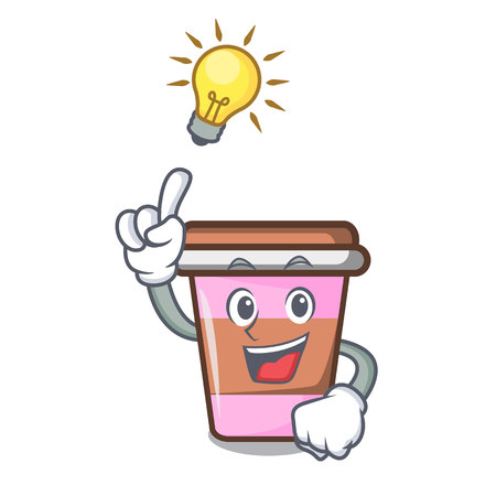 Have an idea coffee cup mascot cartoon
