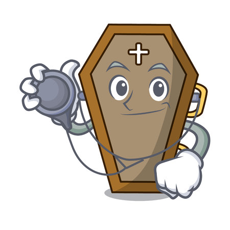 Doctor coffin character cartoon style