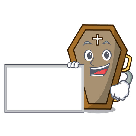 With board coffin character cartoon style