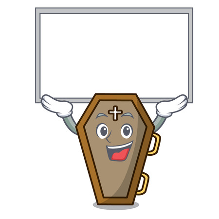 Up board coffin character cartoon style Illustration